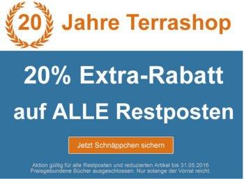 Terrashop: 20 Prozent Rabatt auf über 20.000 Titel bis Dienstag