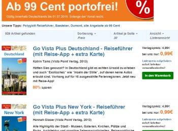 Terrashop: Knapp 1000 Reiseführer ab 99 Cent frei Haus