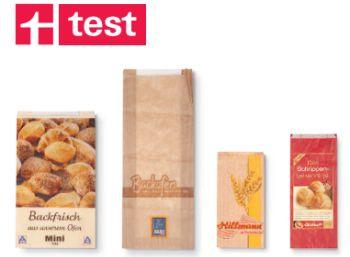 Stiftung Warentest: Bäckereitüten sind sichere Aufbewahrungsmittel (Bild: Test.de)