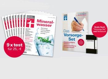 Test: Neun Ausgaben inklusive Vorsorge-Set und Notizbuch für 25 Euro