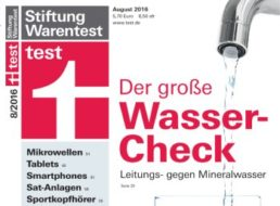 Test: Leitungswasser oft besser als Mineralwasser aus dem Handel