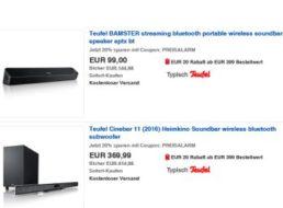 """Ebay: Teufel-Produkte zu Bestpreisen dank """"Preisalarm""""-Gutschein"""