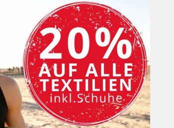 Plentyone: Rabatt von 20 Prozent auf Textil, Schuhe und Rucksäcke