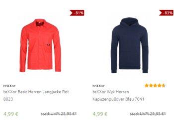 Outlet46: Arbeitsjacken und -Pullis von Texxor für 4,99 Euro frei Haus