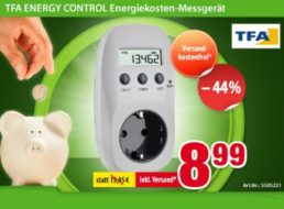 "Völkner: Energiekosten-Messgerät ""TFA Energy Control"" für 8,99 Euro frei Haus"