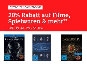 Thalia: 20 Prozent Rabatt auf Filme, Spielwaren und mehr nur heute
