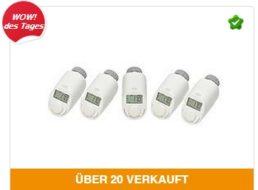 Ebay: Elektronisches Heizkörperthermostat eQ-3 im Fünferpack für 44,95 Euro