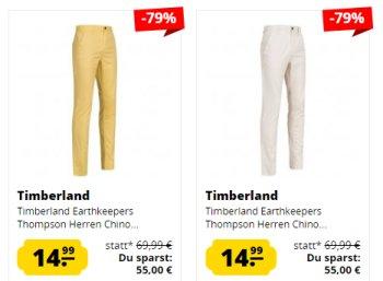 Timberland: Chinos für 14,99 bis 23,99 Euro bei Sportspar.de