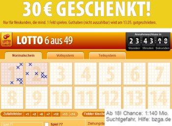 Gratis: 30 Euro Guthaben bei Tipp24 für 1,50 Euro Einsatz