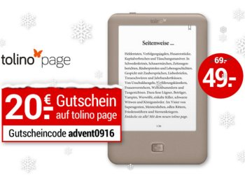 Weltbild: Tolino Page zum Bestpreis von 49 Euro