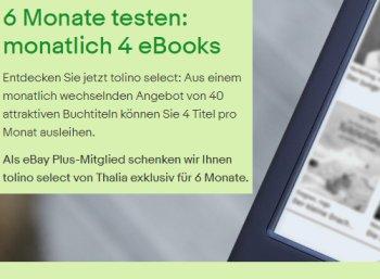 Ebay Plus: Tolino Select sechs Monate zum Nulltarif testen