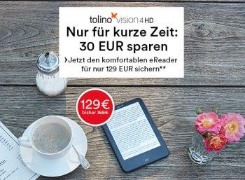 Thalia: Tolino Vision 4 HD zum Bestpreis von 129 Euro frei Haus