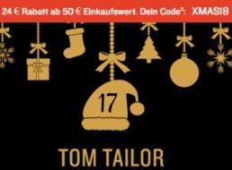 Tom Tailor: 24 Euro Rabatt ab 50 Euro Einkaufswert