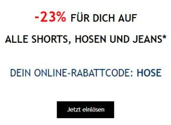 Tom Tailor: 23 Prozent Rabatt auf alle Shorts und Hosen