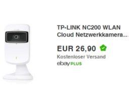 Ebay: Netzwerkkamera TP-Link NC 200 mit WLAN-Verstärker für 26,90 Euro