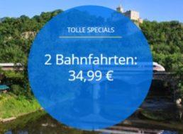 Bahn: Zwei Fahrten quer durch Deutschland für zusammen 34,99 Euro