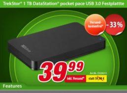 Voelkner: Externe Festplatte von TrekStor mit einem TByte für 39,99 Euro