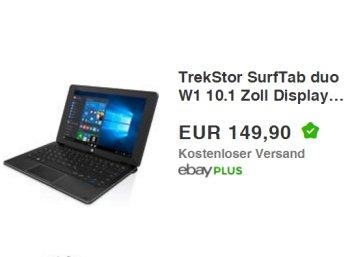 Ebay: TrekStor SurfTab duo W1 als Demoware für 149,90 Euro frei Haus