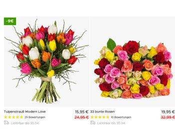 Blumeideal: Tulpenstrauß zu Ostern für 20,94 Euro inklusive Versand