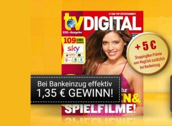 TV Digital: 13 Ausgaben gratis mit 1,35 Euro Gewinn