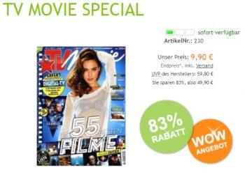 TV Movie: Jahresabo für 9,90 Euro frei Haus