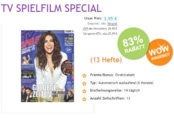 """Knaller: Halbjahresabo der """"TV Spielfilm"""" mit automatischem Ende für 3,95 Euro"""