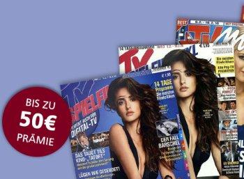 TV-Zeitschriften: 3 Jahresabos für je 4,80 Euro frei Haus