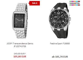15 Prozent Sonder-Rabatt auf Uhren und Schmuck