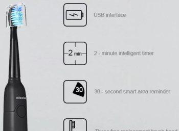 Rosegal: Elektrische Zahnbürste mit 3 Bürstenköpfen für 8,60 Euro frei Haus
