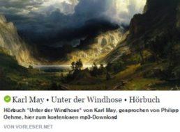 """Gratis: Hörbuch """"Unter der Windhose"""" von Karl May zum Download"""