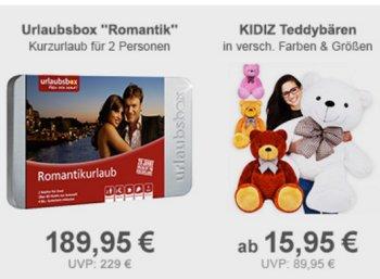"""Allyouneed: """"Urlaubsbox Romantik"""" mit 40 Euro Rabatt für 189,95 Euro"""