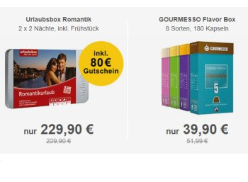 "Allyouneed: ""Urlaubsbox Romantik"" für 188,52 Euro frei Haus"