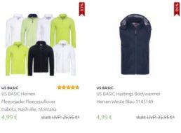 """Outlet46: Fleecejacken und Pullover von """"US Basic"""" für 4,99 Euro frei Haus"""