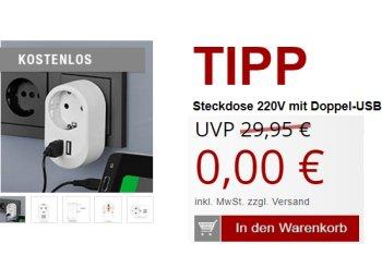 Druckerzubehoer.de: USB-Steckdose für 5,97 Euro frei Haus
