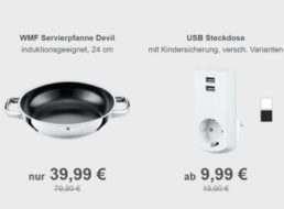 """Allyouneed: """"conecto Schutzkontakt-Steckdose"""" mit USB-Anschlüssen für 9,99 Euro"""