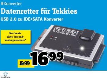 Conrad: IDE-SATA--Konverter für 16,99 Euro frei Haus