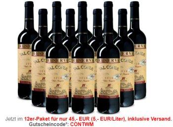 Weinvorteil: Goldprämierter Reserva aus 2010 im 12er-Paket für 45 Euro frei Haus