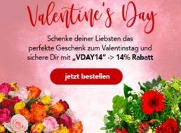 Valentinstag: 14 Prozent Rabatt auf bereits reduzierte Sträuße