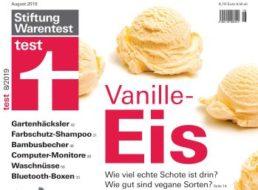 Test: Vanilleeis von Aldi-Süd auf Platz 3, vegane Produkte mangelhaft