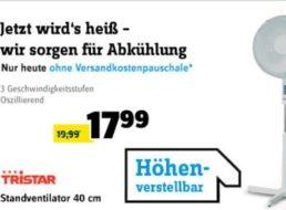 Conrad:  Standventilator Tristar VE 5948 für 17,99 Euro frei Haus