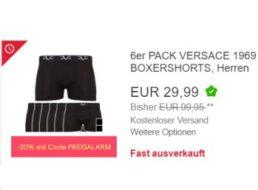 Versace: Boxershorts im Sechserpack für 23,99 Euro frei Haus