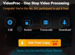 Gratis: VideoProc zum Konvertieren von 4K-Videos für 0 Euro