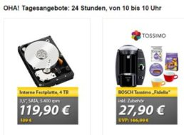 Meinpaket: Interne Festplatte mit vier TByte für 119,90 Euro frei Haus