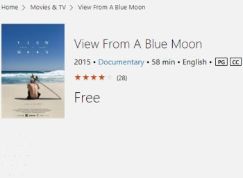 "Gratis: 4K-Film ""View from a blue moon"" bei Microsoft zum Nulltarif"