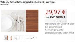 """Druckerzubehoer.de: Menuebesteck """"Bellevue"""" von Villeroy & Boch für 29,97 Euro"""