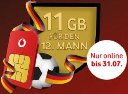Vodafone: Elf GByte Daten zur Callya-Karte geschenkt