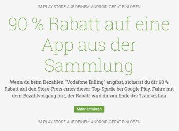 Google-Play: 10 Apps mit 90 Prozent Rabatt für Vodafone-Kunden