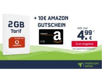 Vodafone: Zwei GByte, 50 Minuten & 50 SMS für 4,99 Euro im Monat