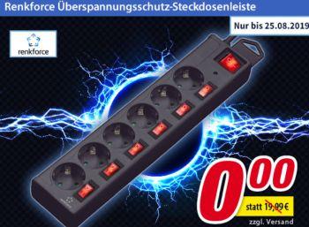 Gratis: Überspannungsschutz-Steckdosenleiste ab 40 Euro Warenwert bei Völkner