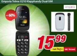 Völkner: Klapphandy Emporia Telme X210 für 15,99 Euro frei Haus